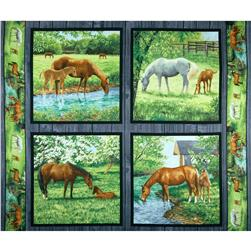 Wild Wings Sweetwater Bridge Pillow Panel Multi