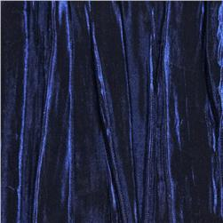 Creased Taffeta Iridescent Dark Royal Fabric