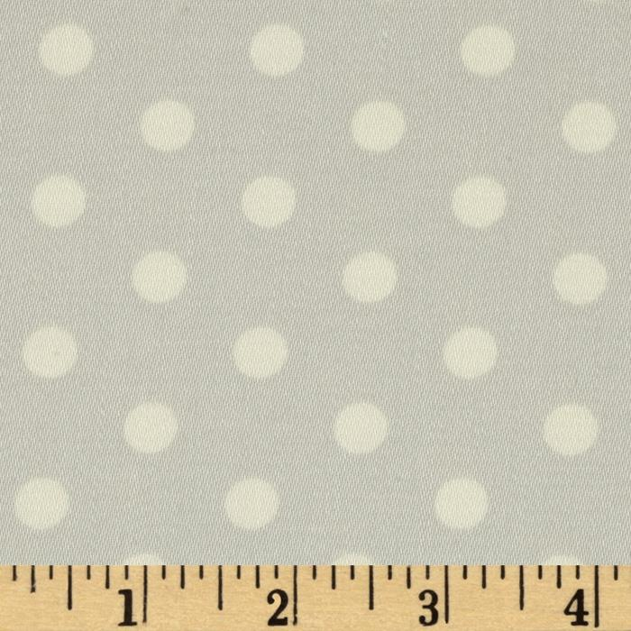 Tanya Whelan Petal Home Decor Sateen French Dots Fog