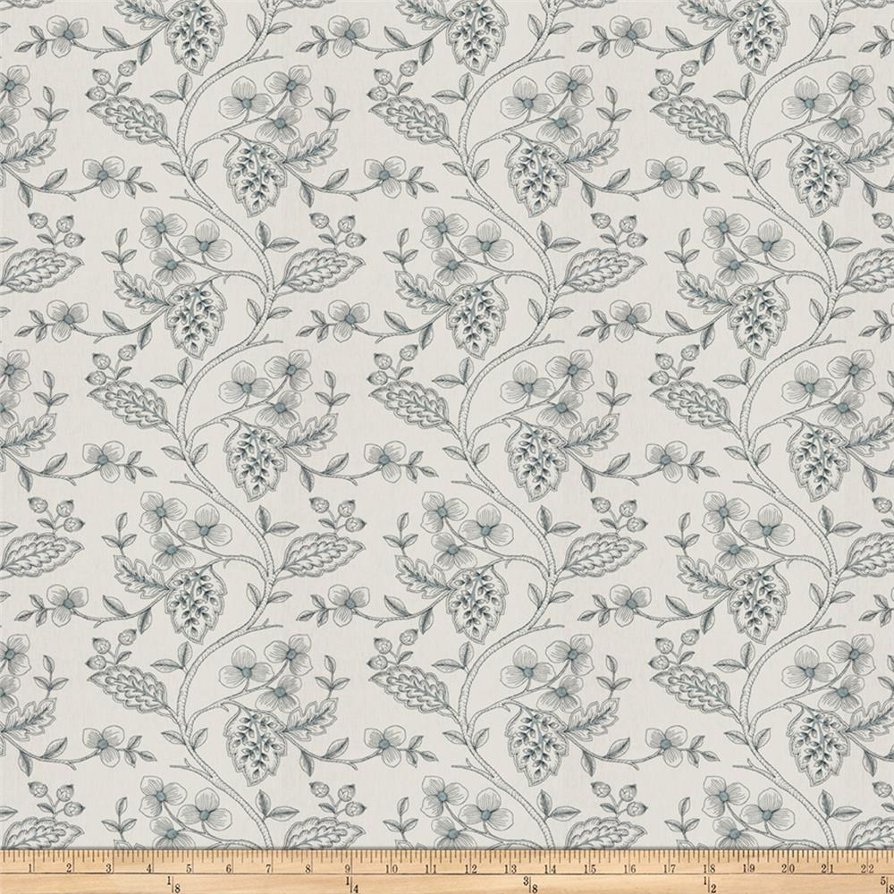 Fabricut Flowering Plant Navy