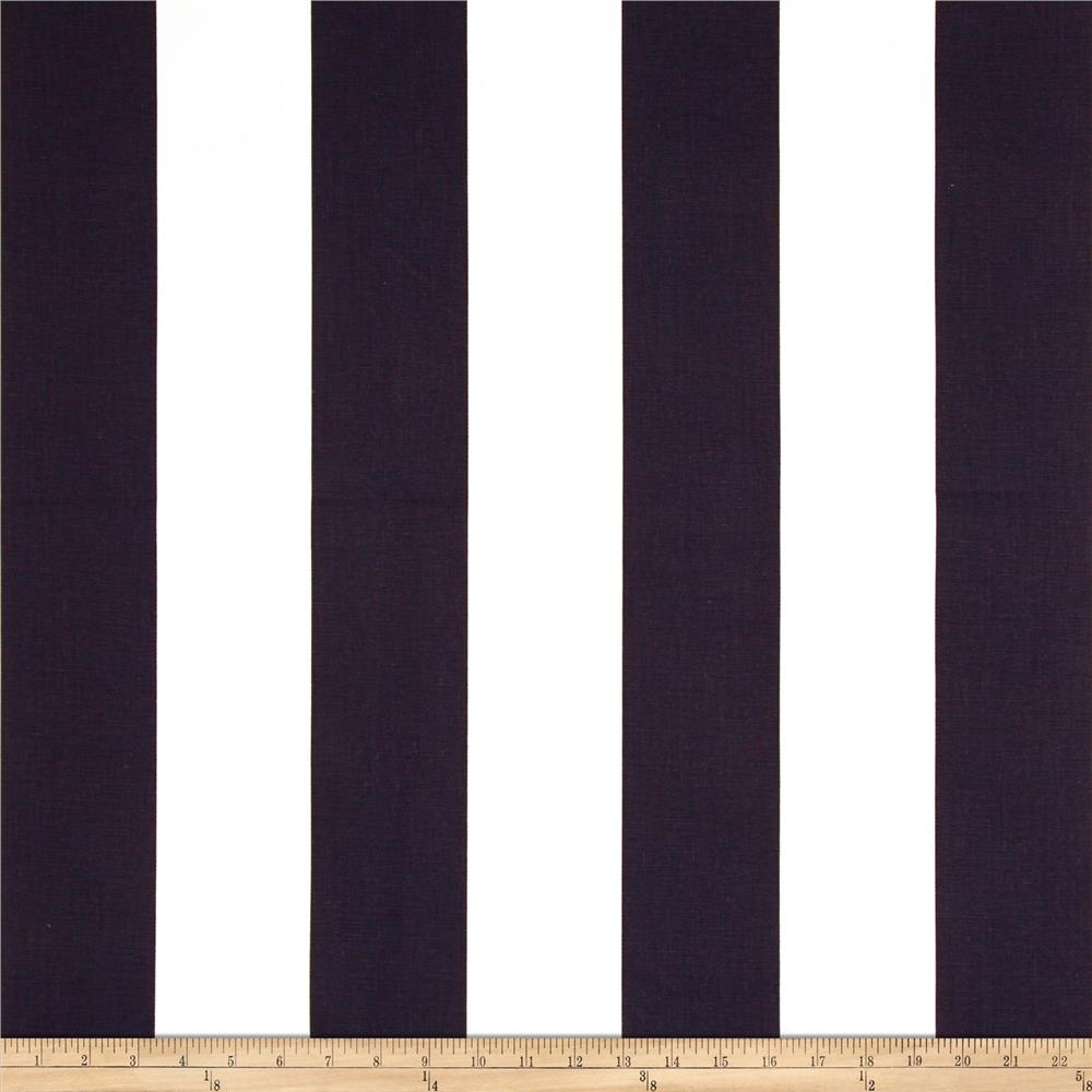 Premier Prints Vertical Stripe White/Navy Blue