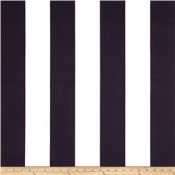 Premier Prints Vertical Stripe White/Navy Blue Fabric