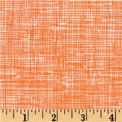 Timeless Treasures Sketch Flannel Orange