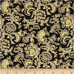 Alchemy Metallic Jacobean Black/Gold Fabric