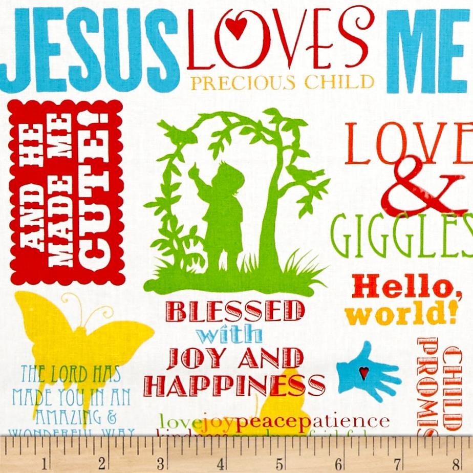 Jesus Loves Me Words Multi