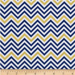 Remix Metallic Small Chevron Royal Fabric