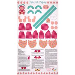 Riley Blake Snug as a Bug Panel Pink
