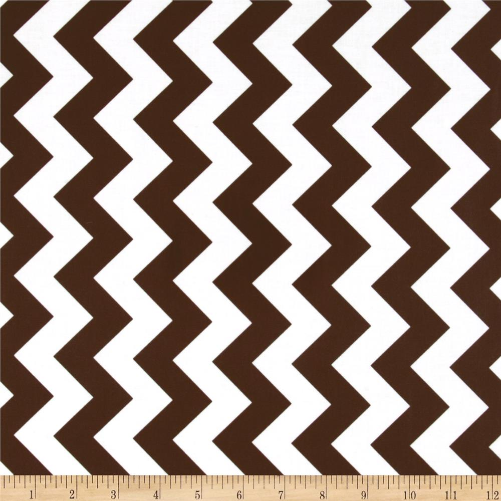 Riley Blake Laminate Medium Chevron Brown