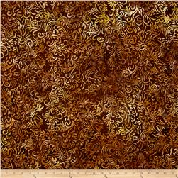 Wilmington Batiks Flourish Dark Brown