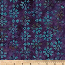 Timeless Treasures Tonga Batiks Calypso Patchwork Star Amethyst