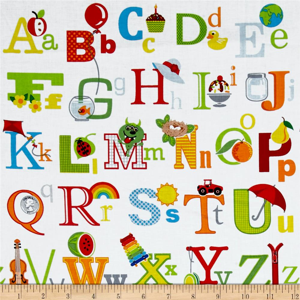 Fun with ABC's Alphabet Images White