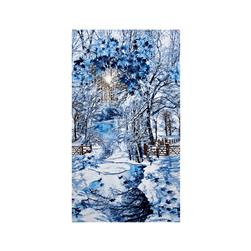Timeless Treasures Scenic Snow Fall 24'' Panel Winter