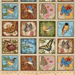 Spring Symphony Bird Blocks Multi