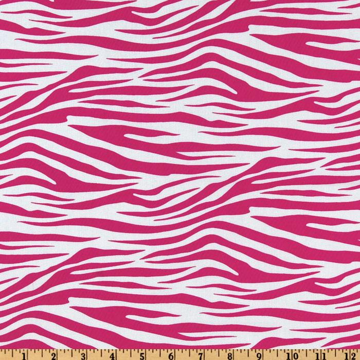 Metro Living Zebra Hot Pink