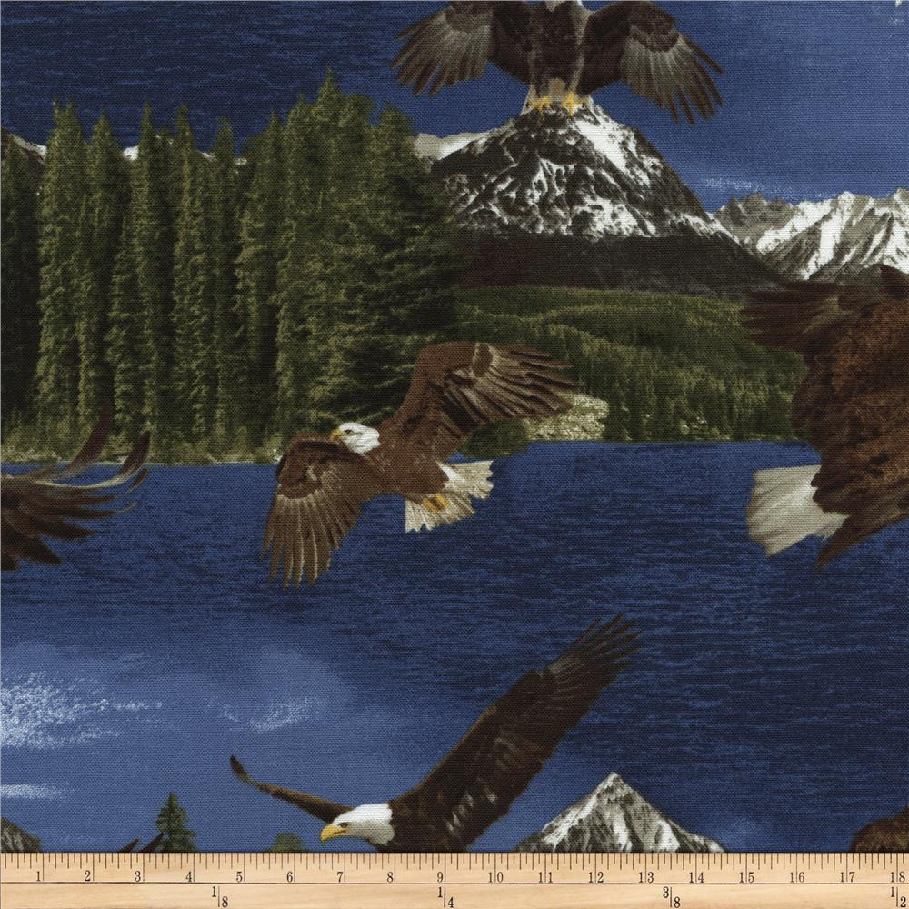 Timeless Treasures Into the Wild Eagles Multi