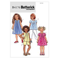 Butterick Children's/Girls' Top, Dress, Shorts and Pants Pattern