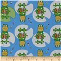 Toy Tales Frog on Lily Pad Blue