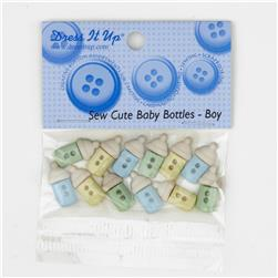 Dress It Up Embellishment Buttons  Sew Cute Baby Bottles Boy