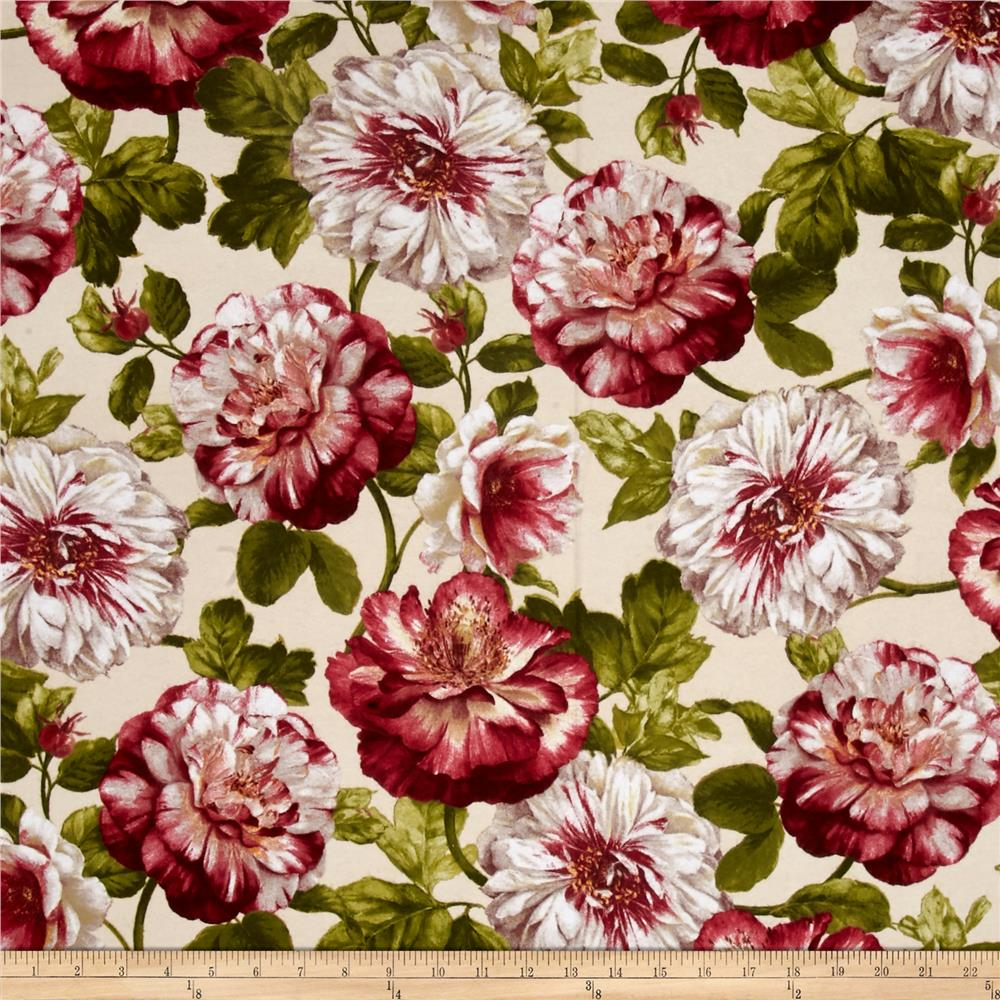 Romantic Afternoon Flannel Large Floral Ivory