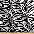 Charmeuse Satin Zebra Black White