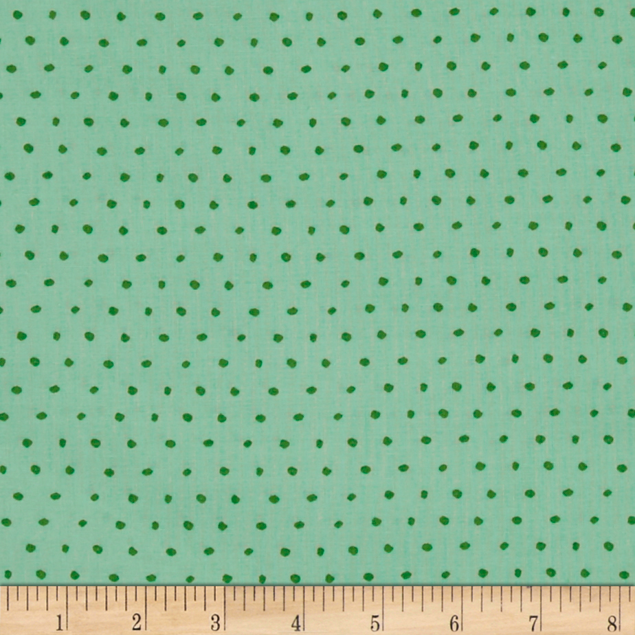 25 Days of Christmas Dot Dark Mint Fabric By The Yard