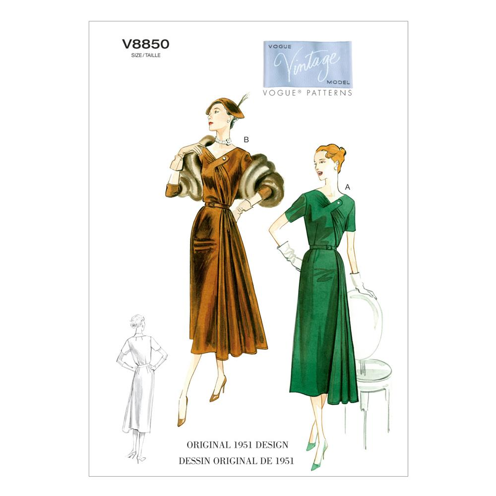Vogue Misses' Dress and Belt Pattern V8850 Size B50