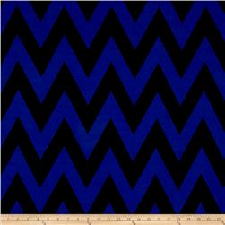 ITY Jersey Knit Chevron Blue