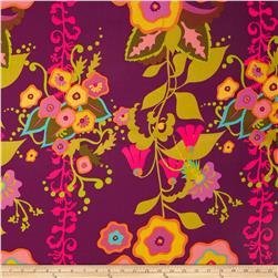 Field Day Large Floral Stripe Purple