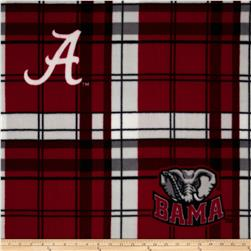University of Alabama Fleece Plaid Crimson