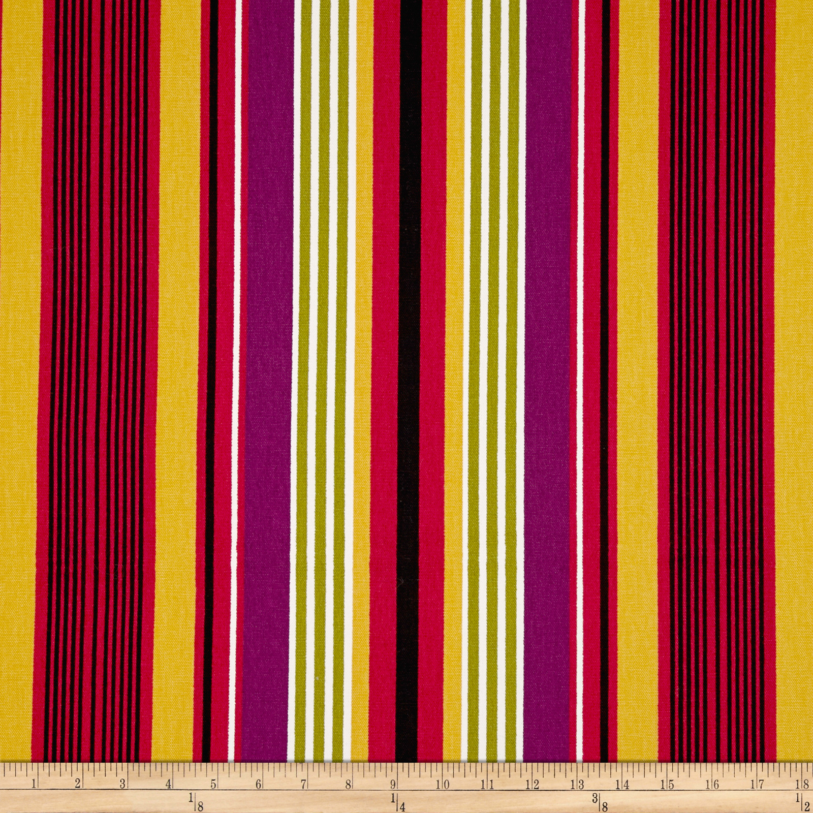 Microfibres Willa Stripe Garnet Fabric