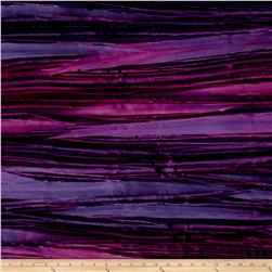 Kaufman Artisan Batiks Patina Handpaints Bold Stripes Petunia
