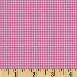 Michael Miller Mini Mikes Tiny Gingham Raspberry