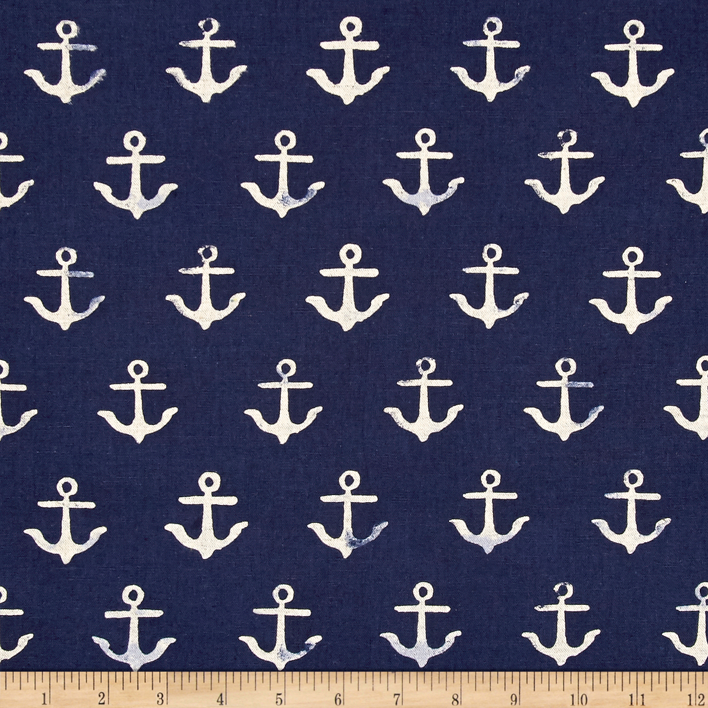 Image of Cotton + Steel S.S. Bluebird Canvas Anchor Navy Fabric