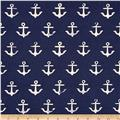 Cotton + Steel S.S. Bluebird Canvas Anchor Navy