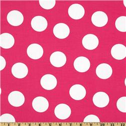 Pimatex Basics Jumbo Dot Hot Pink/White Fabric