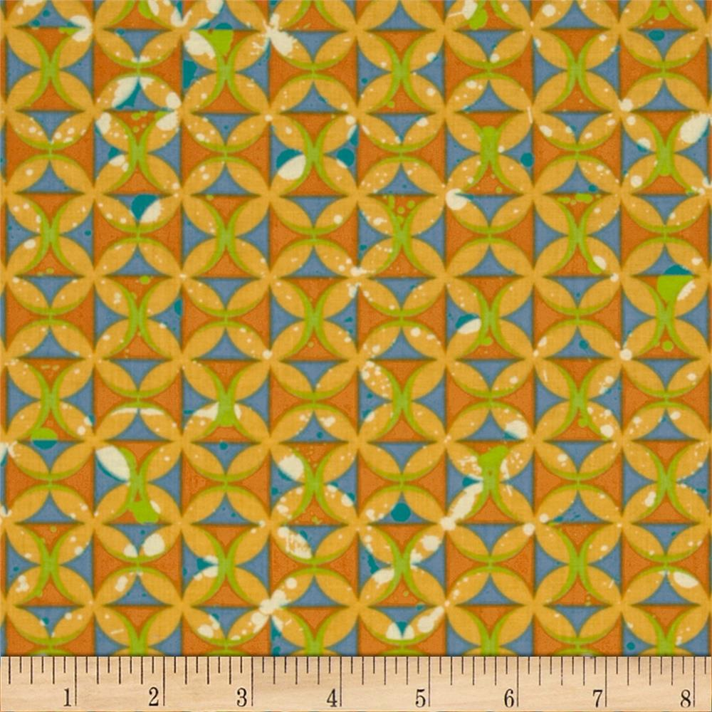 Moda Barcelona Spanish Tiles Saffron/Multi