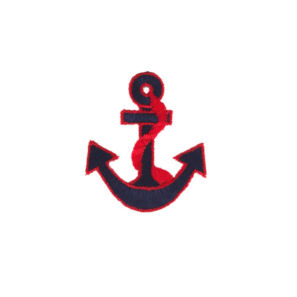 Anchor with Border Applique Navy/Red