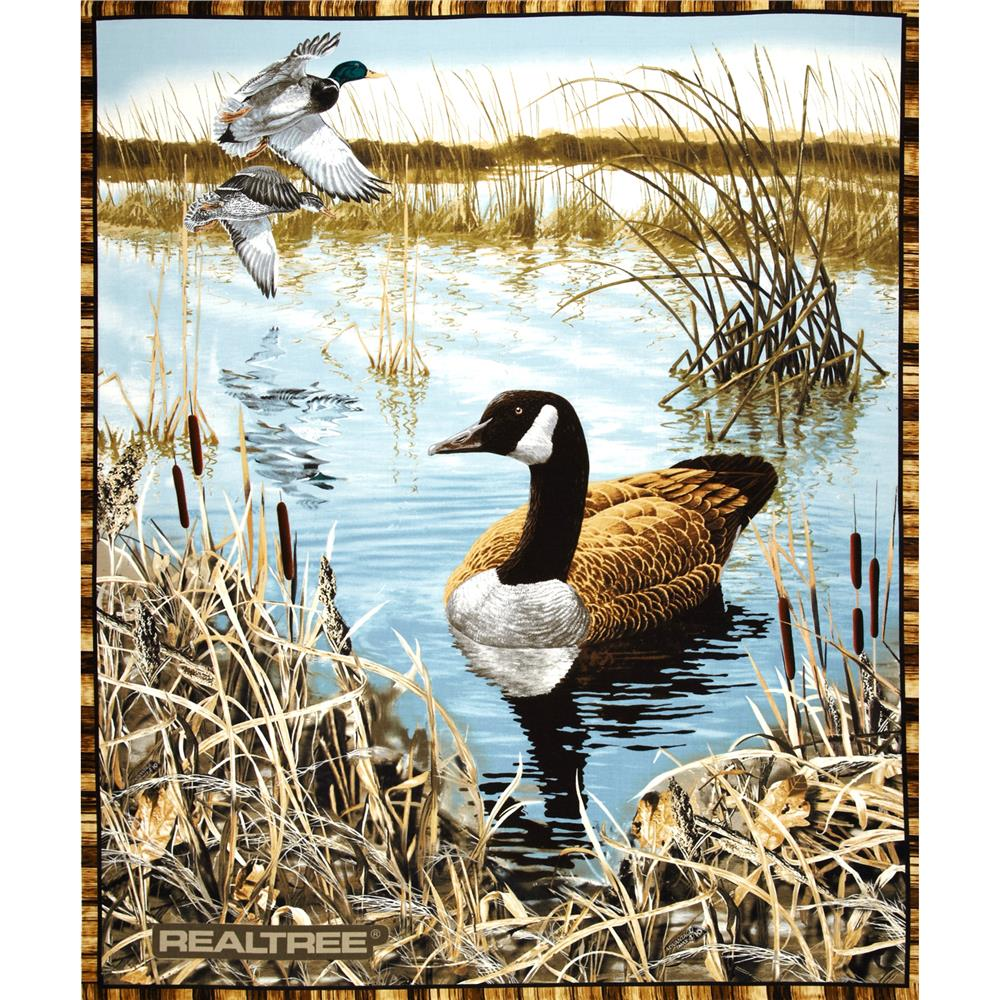 Realtree Water Scenic Panel Discount Designer Fabric