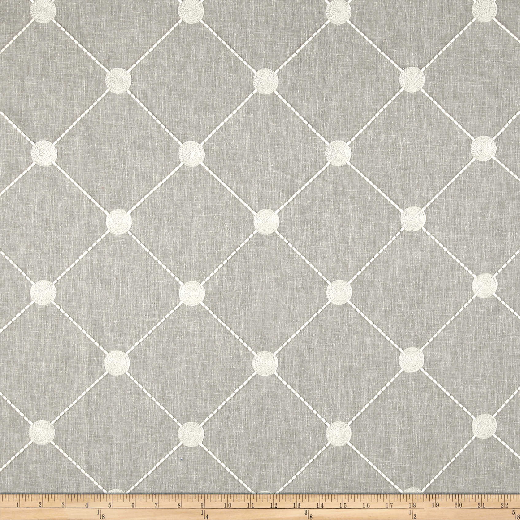 Kelly Ripa Home Fanfare Emb Cloud Fabric by Waverly in USA