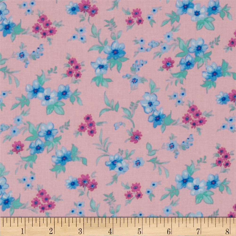 Spring Fling Small Floral Pink/Blue