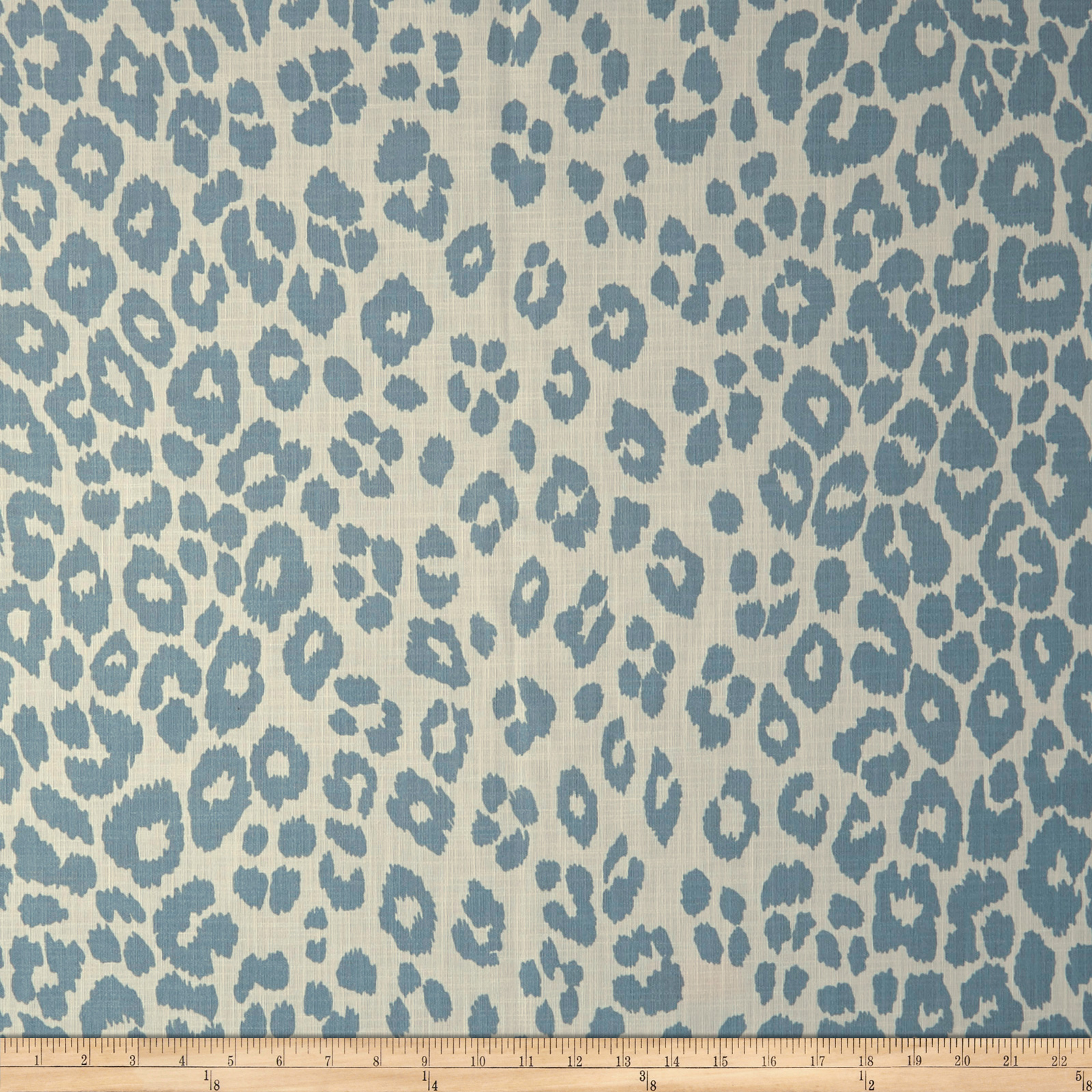 Schumacher Indoor/outdoor Iconic Leopard Sky Canvas Fabric
