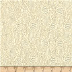Stretch Antique Lace Ivory