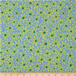 Kaffe Fassett Collective Daisy Chain Blue Fabric