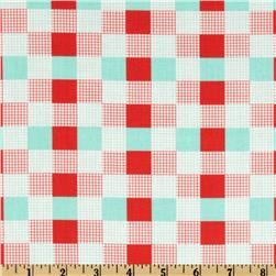 Moda Happy-Go-Lucky Check Red/Aqua
