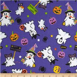 Trick or Treat Tossed Characters Purple