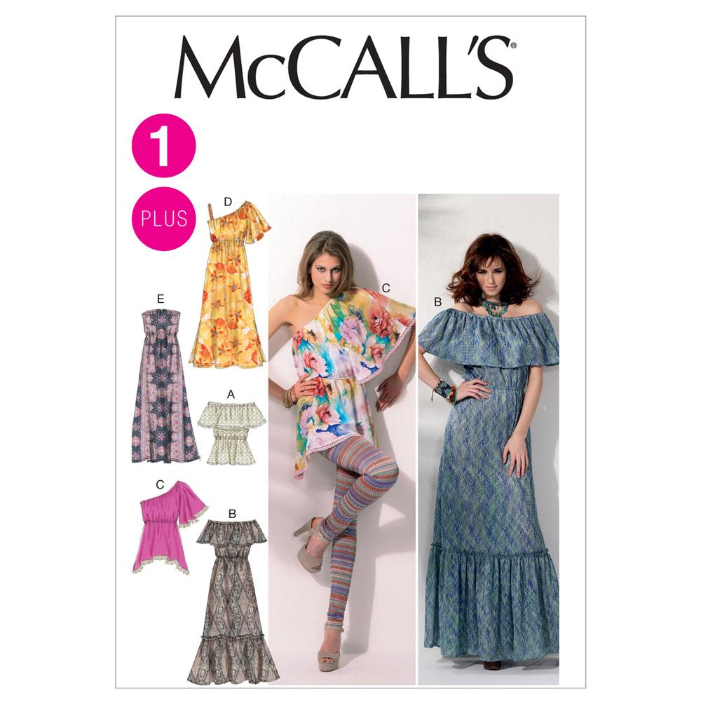 McCall's Misses'/Women's Tops and Dresses Pattern M6558 Size