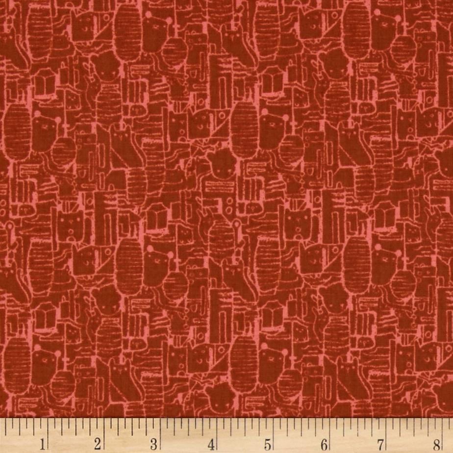 Cotton steel tokyo train ride shibuya coral discount for Train print fabric