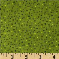 Essentials Petite Dots Medium Leaf Green Fabric