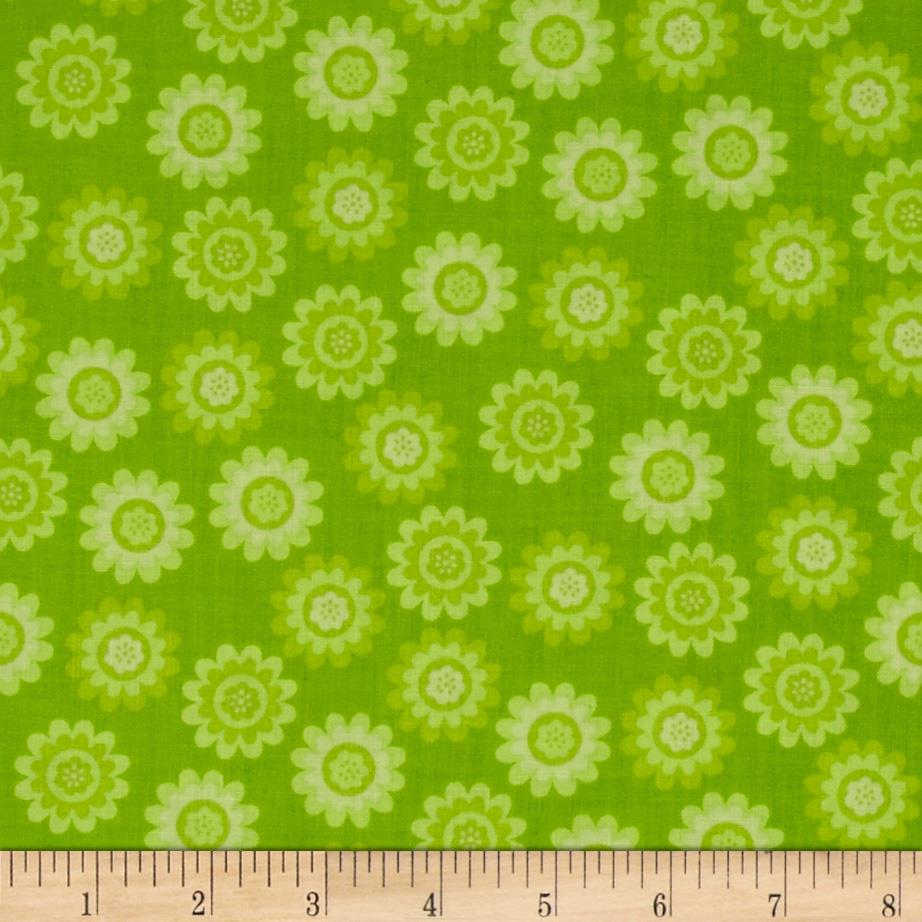 Let's Play Dolls Daisy Flower Dot Green