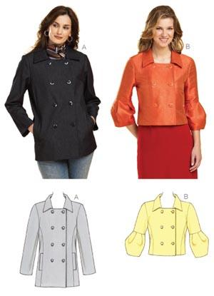 Kwik Sew Square-Necked Jackets Pattern